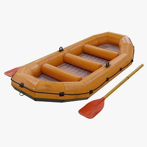 Inflatable Rubber Boat 3D