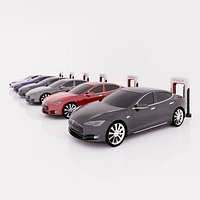 Tesla Revit Family with Chargers