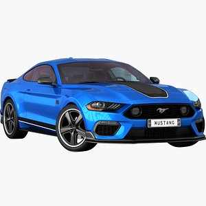 realistic mustang 2021 opening 3D model