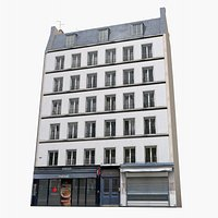Photorealistic Paris Building