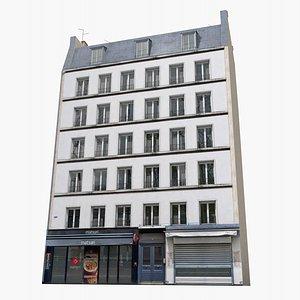 3D old paris photorealistic house