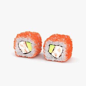 3D Sushi California Roll model