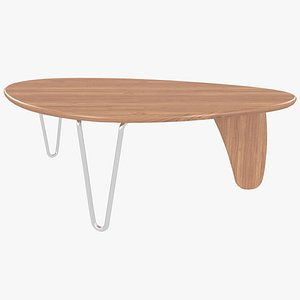 3D wooden coffee table isamu noguchi model
