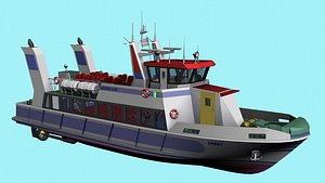 ferry ship boat 3D