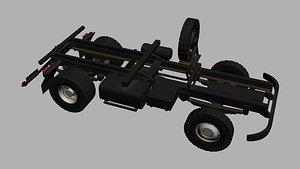 IFA Truck ram with wheels 3D model