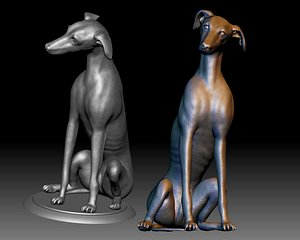 greyhound dog printable 3D model