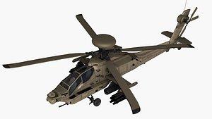helicopter gunship chopper 3D model
