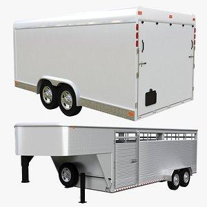 gooseneck trailer 3D model