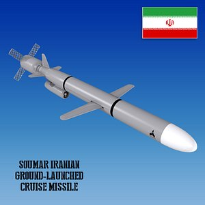 3D Soumar Iranian Ground-Launched Cruise Missile