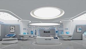 Bank lobby 5 3D