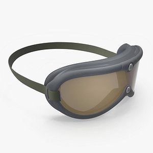 3D Vintage Military Goggles model