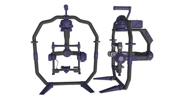 3D Professional Handheld Camera Stabilizer Rigged model