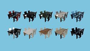 3D 10 DinningTableCollection -FurnitureInteriorDesign