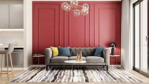 3D living room interior