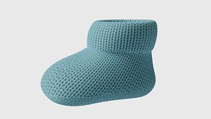 3D model booties knitted