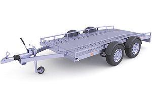 Heavy Duty Utility Cargo Trailer 32 3D model