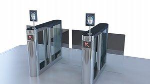 Gate Intelligent Gate  Security Entrance 3D model