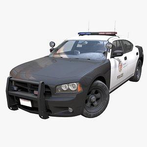 3D model American police car PBR