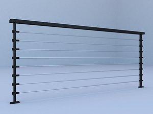handrail balconys 3D model