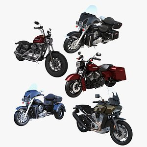 3D Harley-Davidson Motorcycles Collection