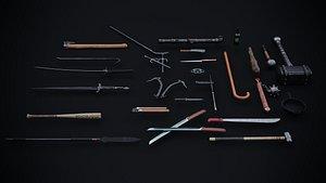 3D melee weapons model