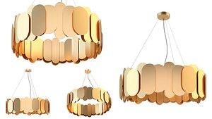 3D lampatron argon chandelier