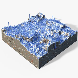 3D model Minecraft Ice Spikes Biome