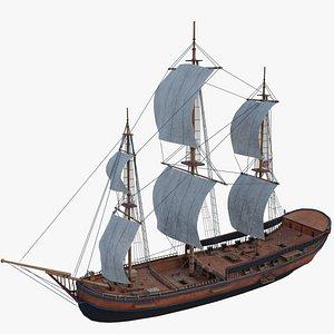 Columbia  Ship 3D model