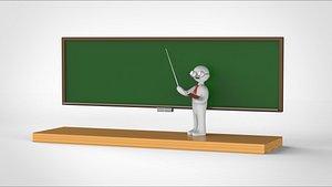 3D model teacher character school