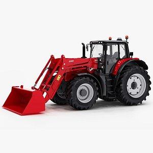 3D generic tractor utility loader model