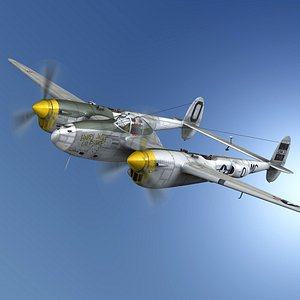 lockheed lightning - happy 3D