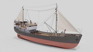 3D model of Fishing Boat Nietlogger 3D model