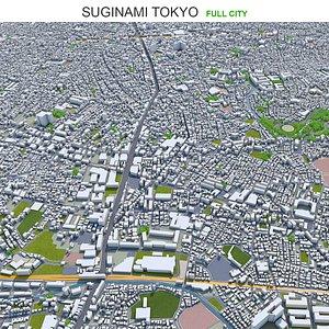 3D model Suginami Tokyo