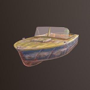 progress 2 boat 3D model