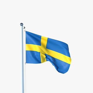 3D Animated Flag of Sweden