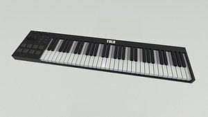 3D model midi keyboard