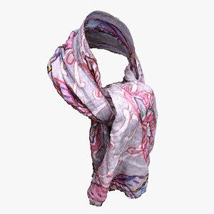 3D scarf clothes model