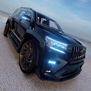3D 2022 Toyota Land Cruiser Tuning VXR V8 model