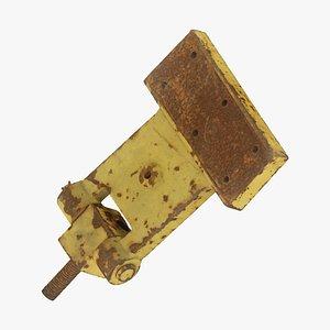 3D Rusty Iron Hinge Raw Scanned model