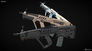 tar-21 rifle 3D model