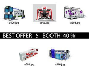 Booth Exhibition Stand c3 3D model