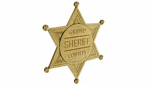 3D model Sheriff badge