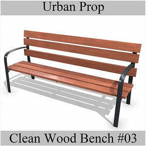 CleanWoodBench03 3D model