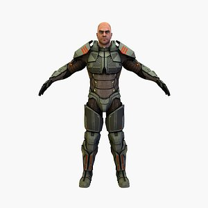 3D model cyber soldierv5
