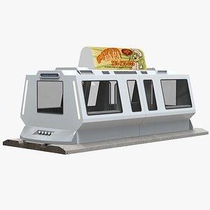 3D model futuristic metro cab