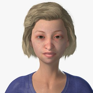 3D old lady woman