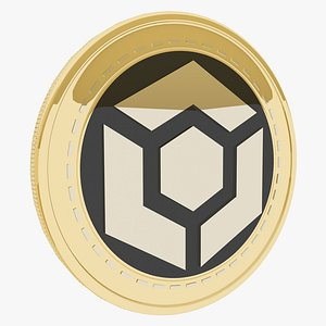 Actinium  Cryptocurrency Gold Coin model