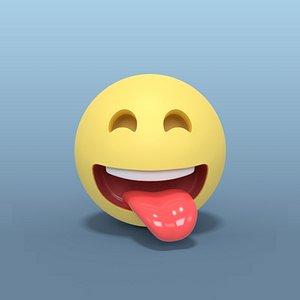 3D smiley smile laugh model