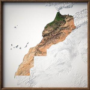 3D model Map Morocco