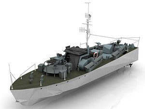 Type025 Motor Torpedo Boat 3D model